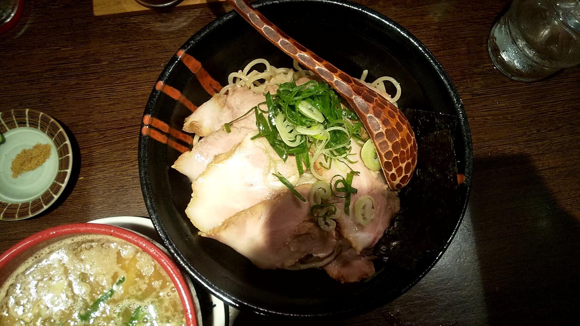 むささんじんのつけ麺の麺皿