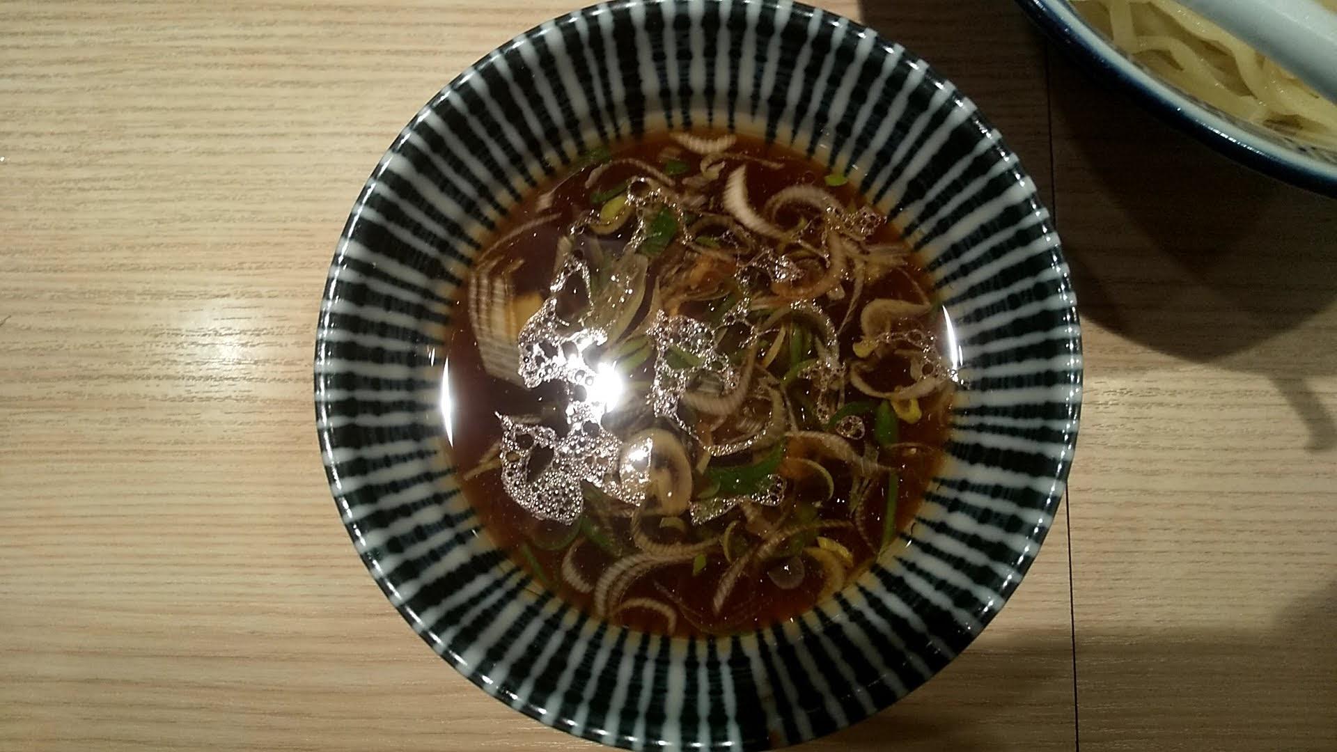 竹むらの特製つけ麺のつけ汁