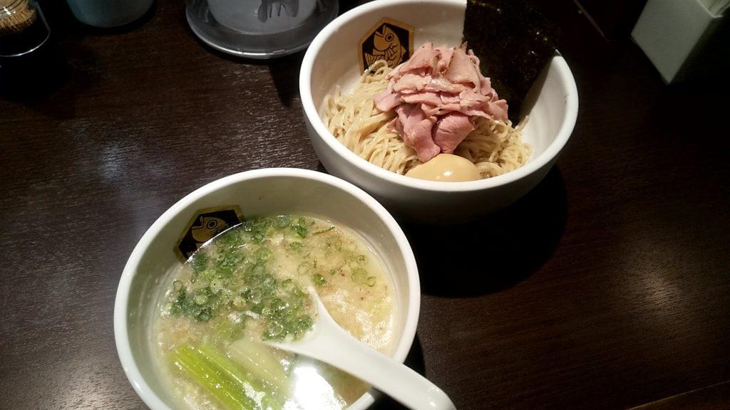 麺魚神保町店の特製真鯛つけ麺