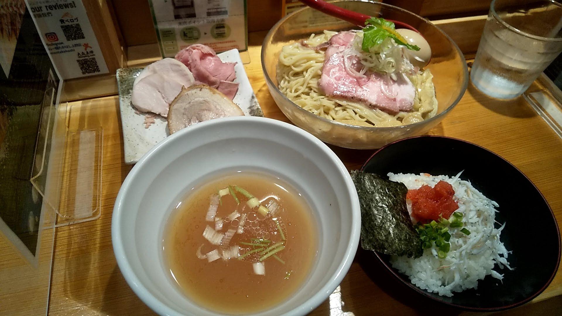 たかはし上野店のしじみ貝の冷たい昆布水つけ麺