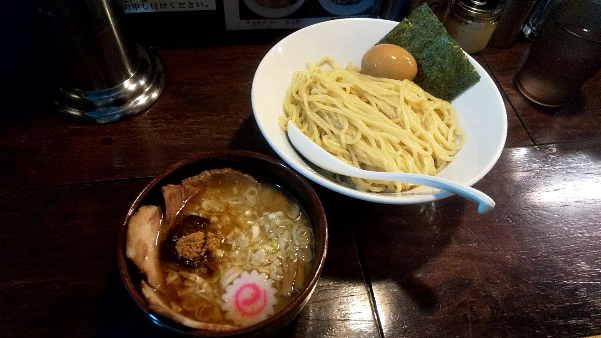 麺屋大斗大門店の特製チャーシュー味玉もりそば