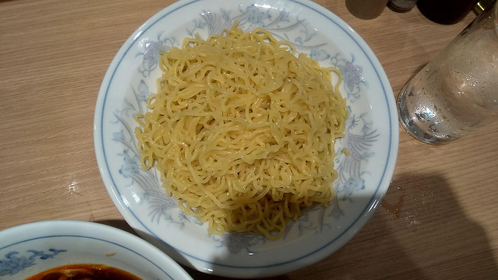 ふぢののつけ麺の麺皿