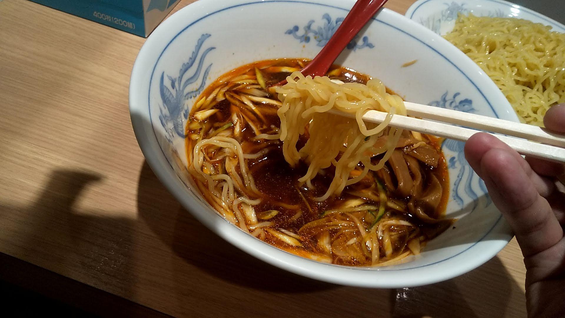 ふぢののつけ麺の麺リフト
