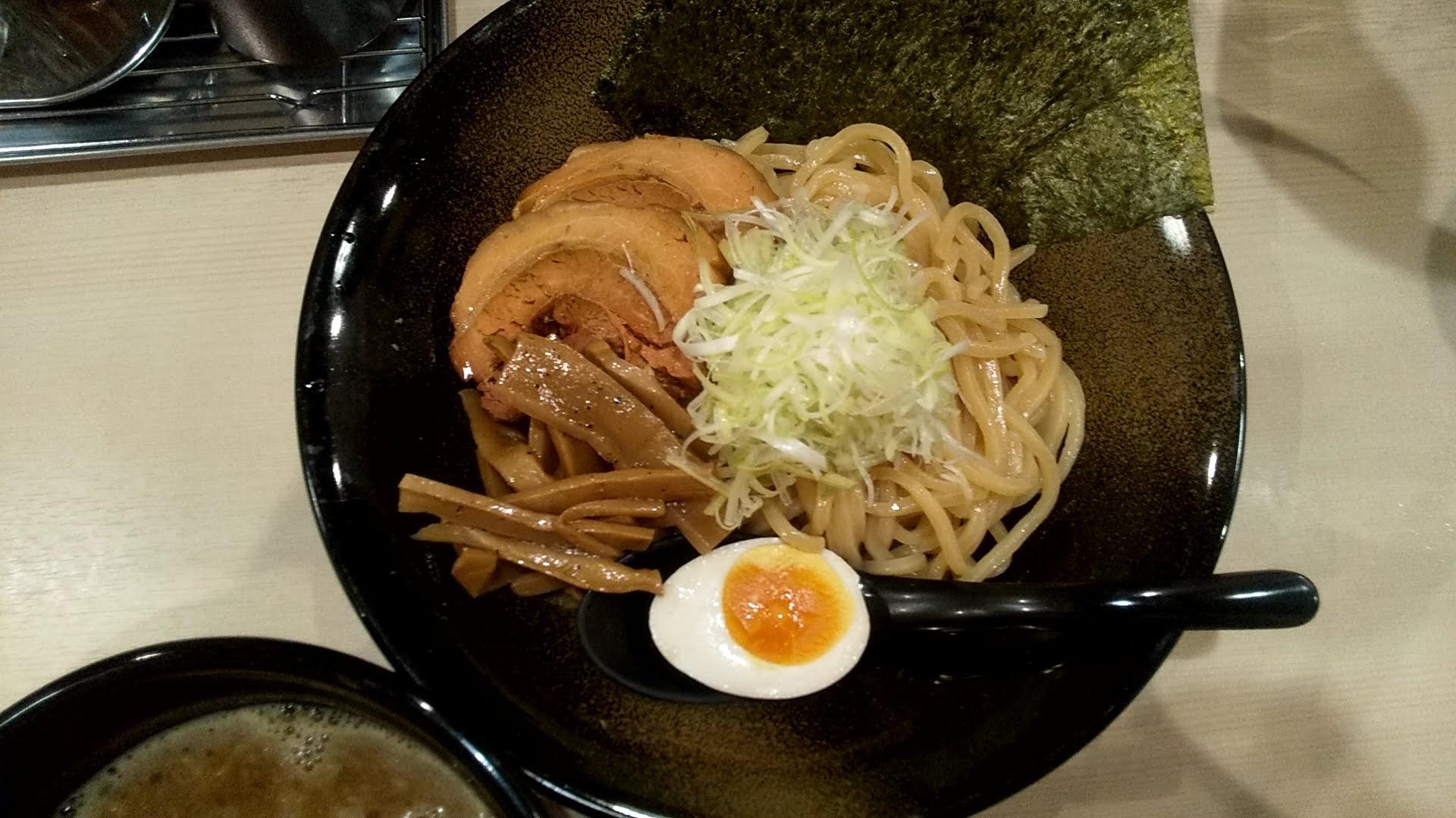 麺屋いまむらのつけ麺の麺皿