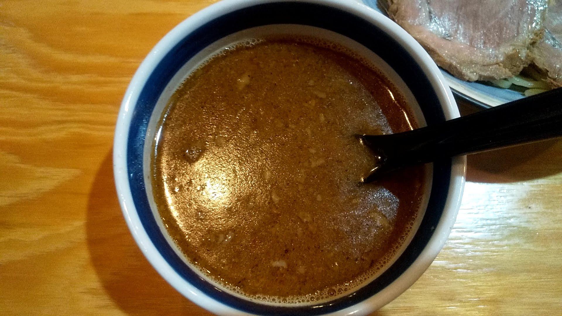 天国豚骨ラーメンのつけ麺のつけ汁
