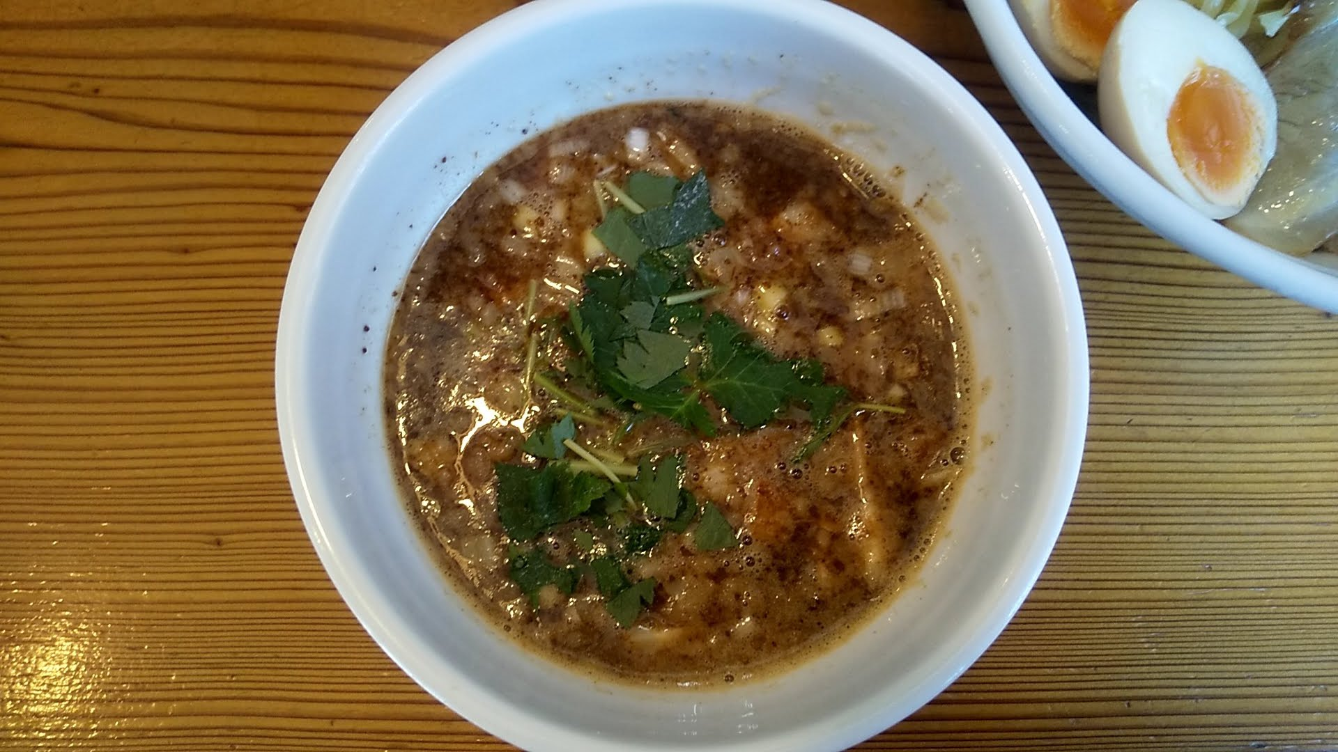 月星の特製つけ麺のつけ汁の写真