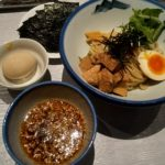AFURI六本木ヒルズ店のつけ麺と味玉・海苔
