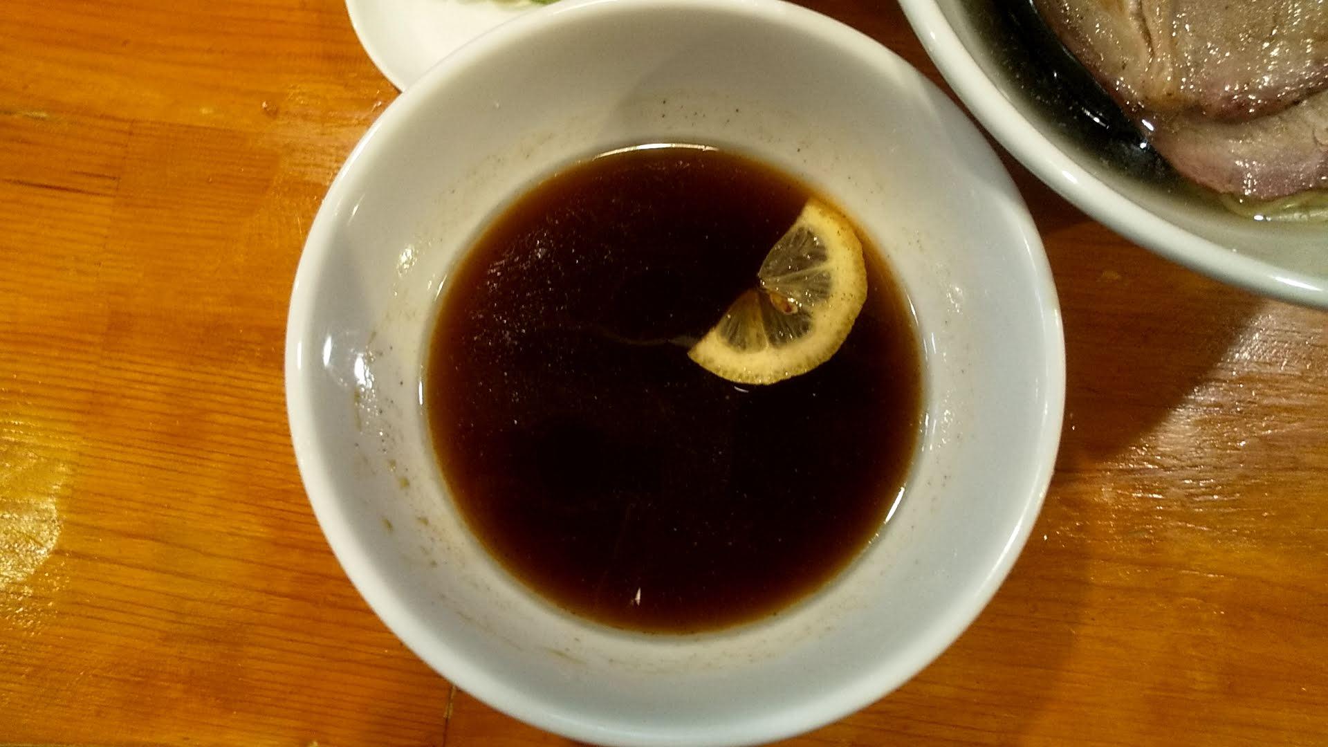 葉月の特製つけ麺のつけ汁