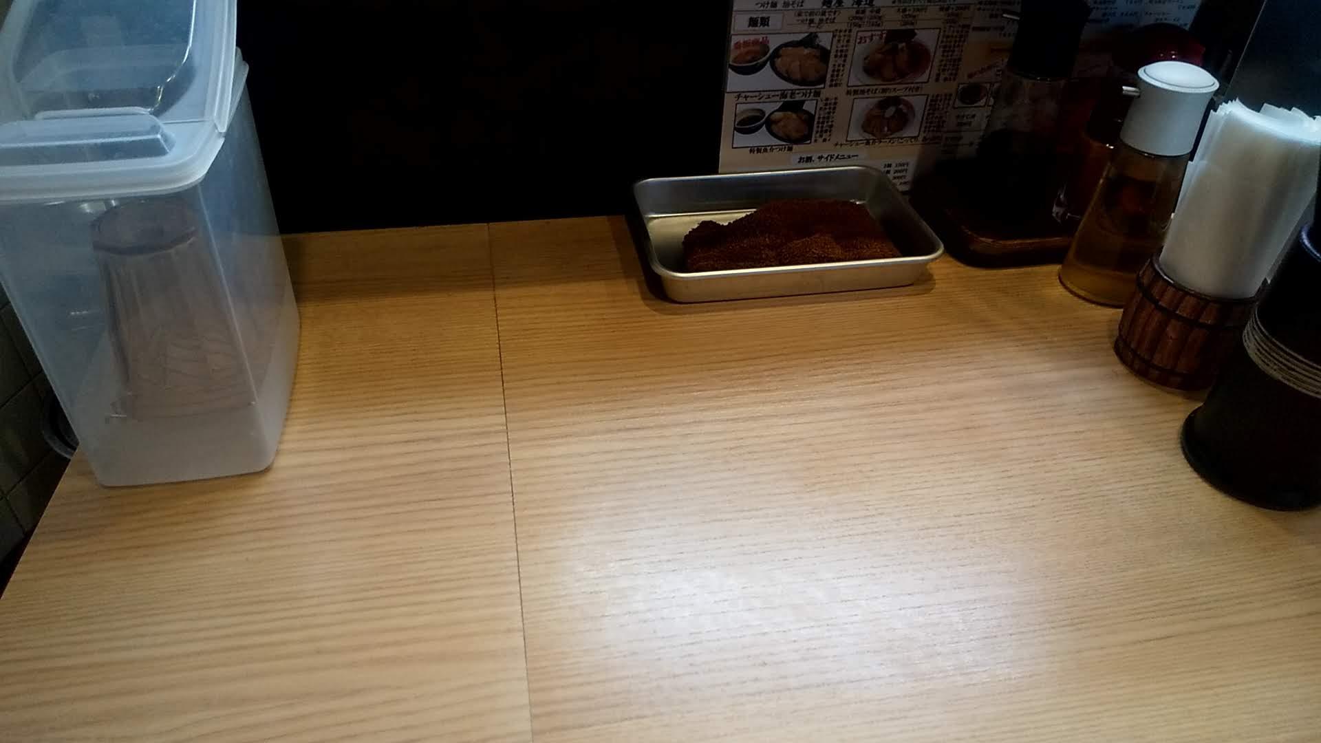 麺屋海道の卓上写真