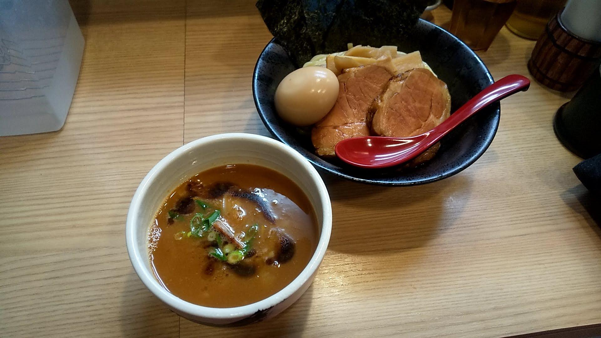 麺屋海道の特製海老つけ麺
