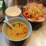 ラーメンショップ新守谷店のネギトロチャーシューキムチつけ麺の写真