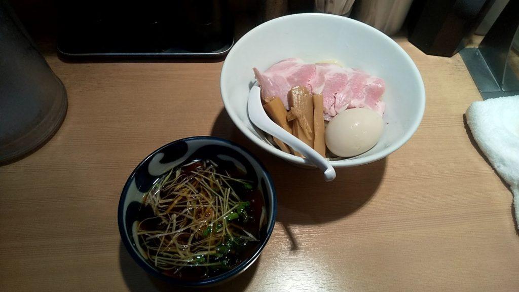中華そばます田の特製つけ麺の写真