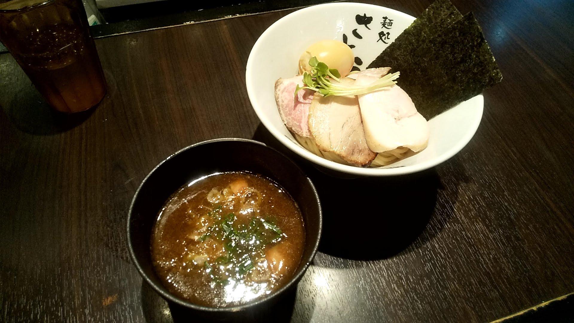 麺処さとうの特製濃厚魚介豚骨つけ麺の写真