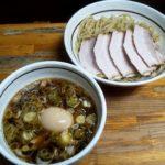 中華そばつけめん甲斐の味玉チャーシューつけ麺の写真