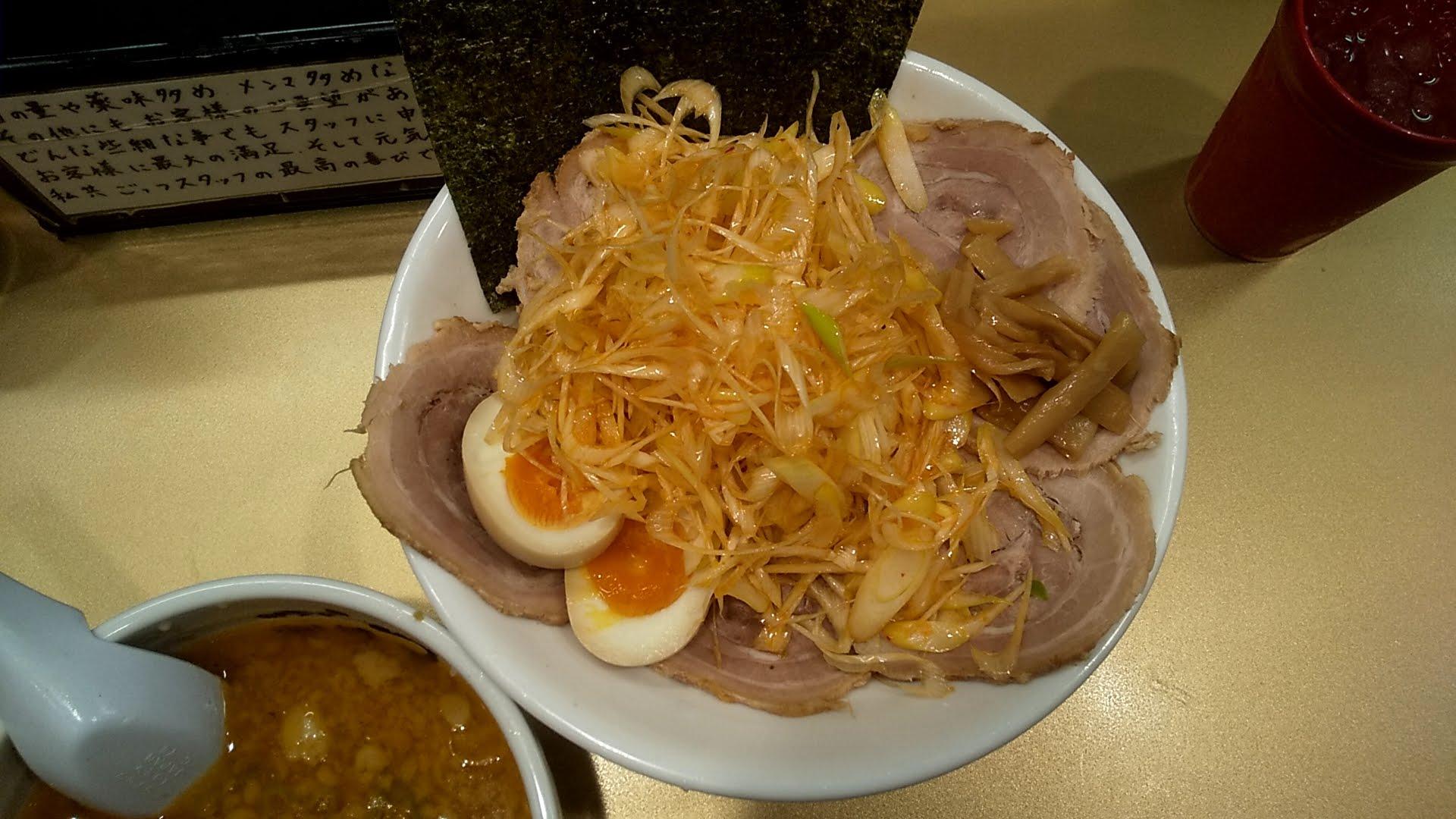 超ごってり麺ごっつのスペシャルつけ麺空の麺皿写真