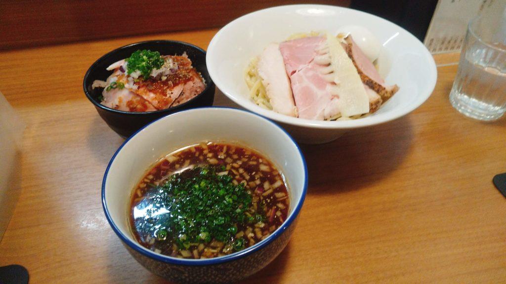 麺屋福丸の特製つけ麺の写真