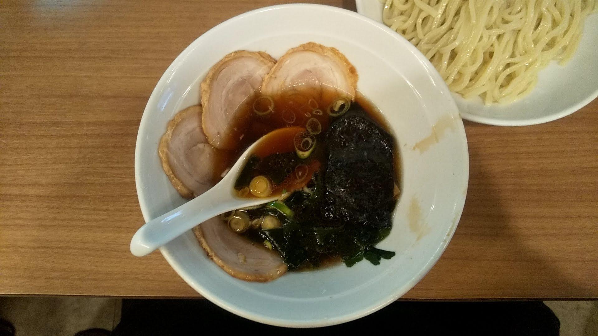 風神のつけ麺のつけ汁の写真