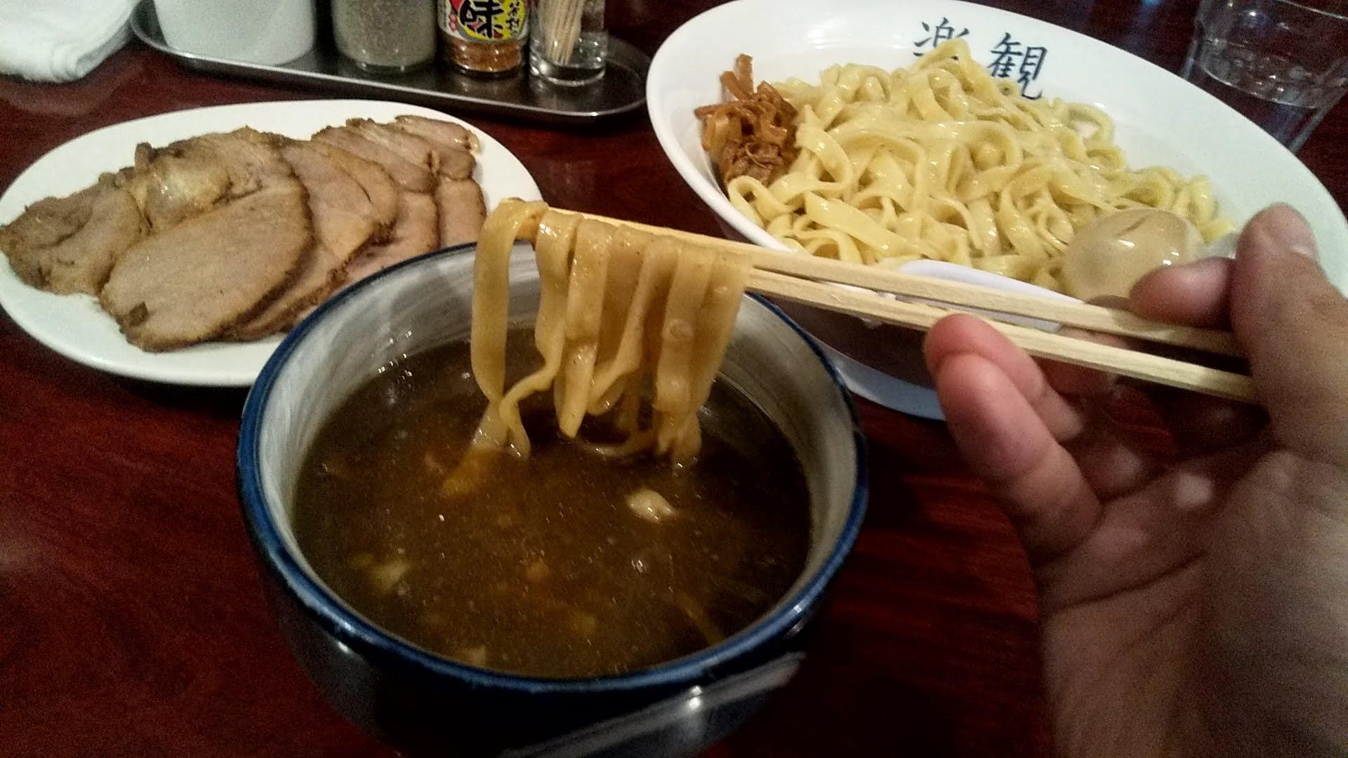 楽観のつけ麺の麺リフト写真