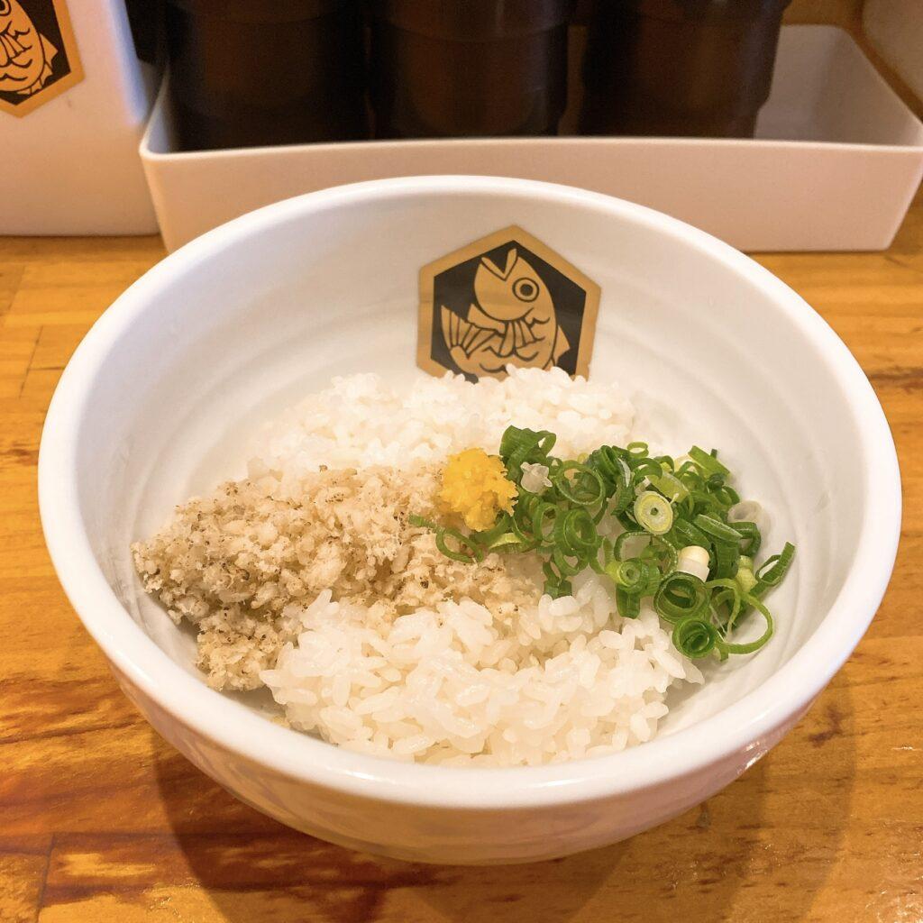 真鯛ラーメン麺魚の〆の雑炊