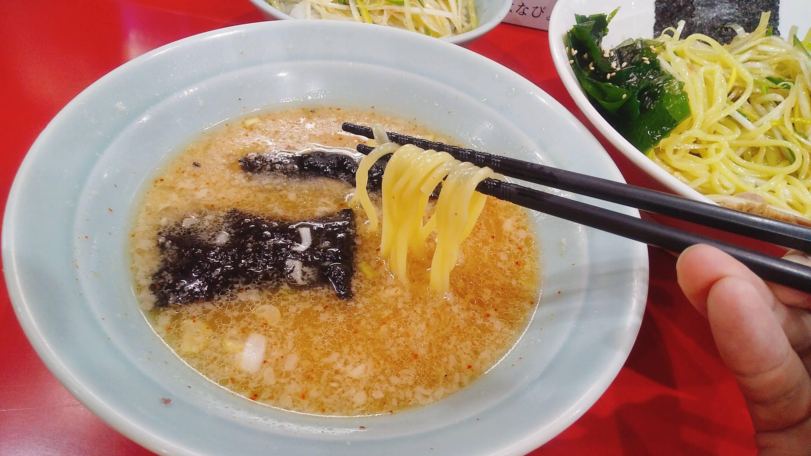 かいざんのかいざんつけ麺の麺リフト写真