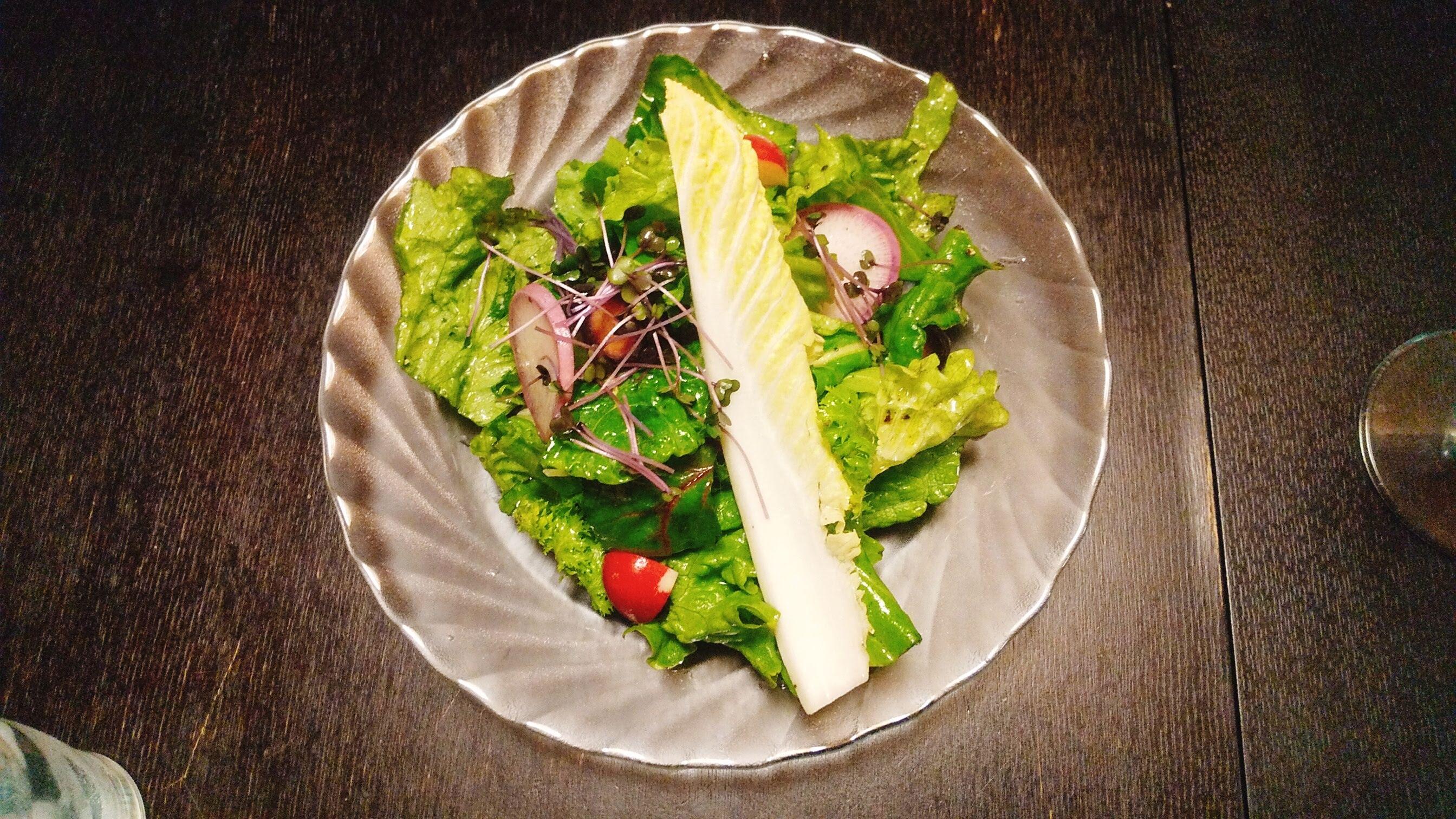 季織亭の有機野菜サラダの写真