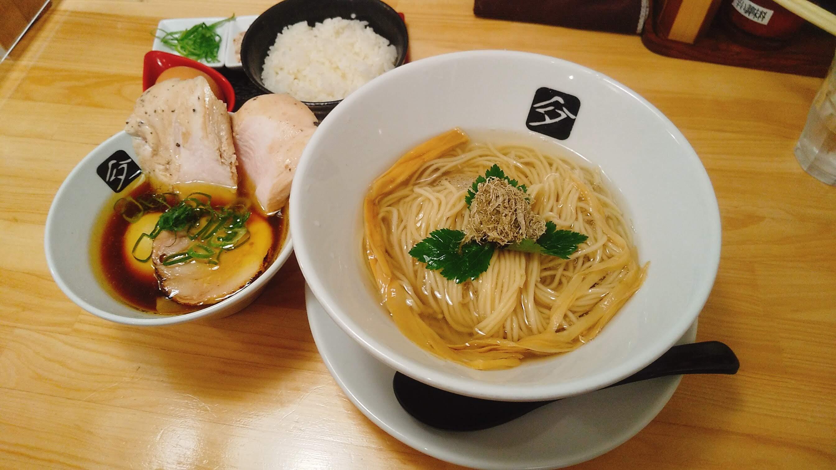 中華そば髙野の特製鶏つけ麺の写真