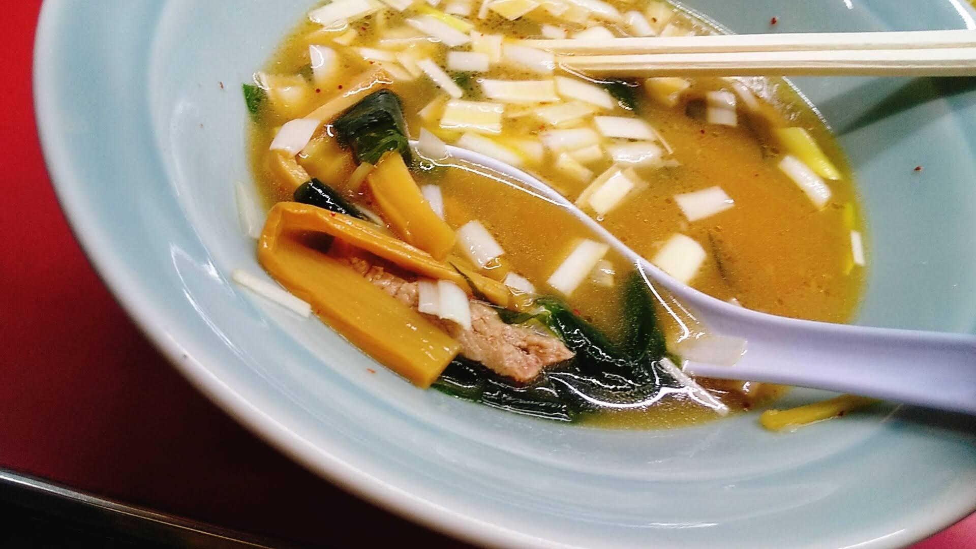 ラーメンショップひだかのつけ麺の具材の写真