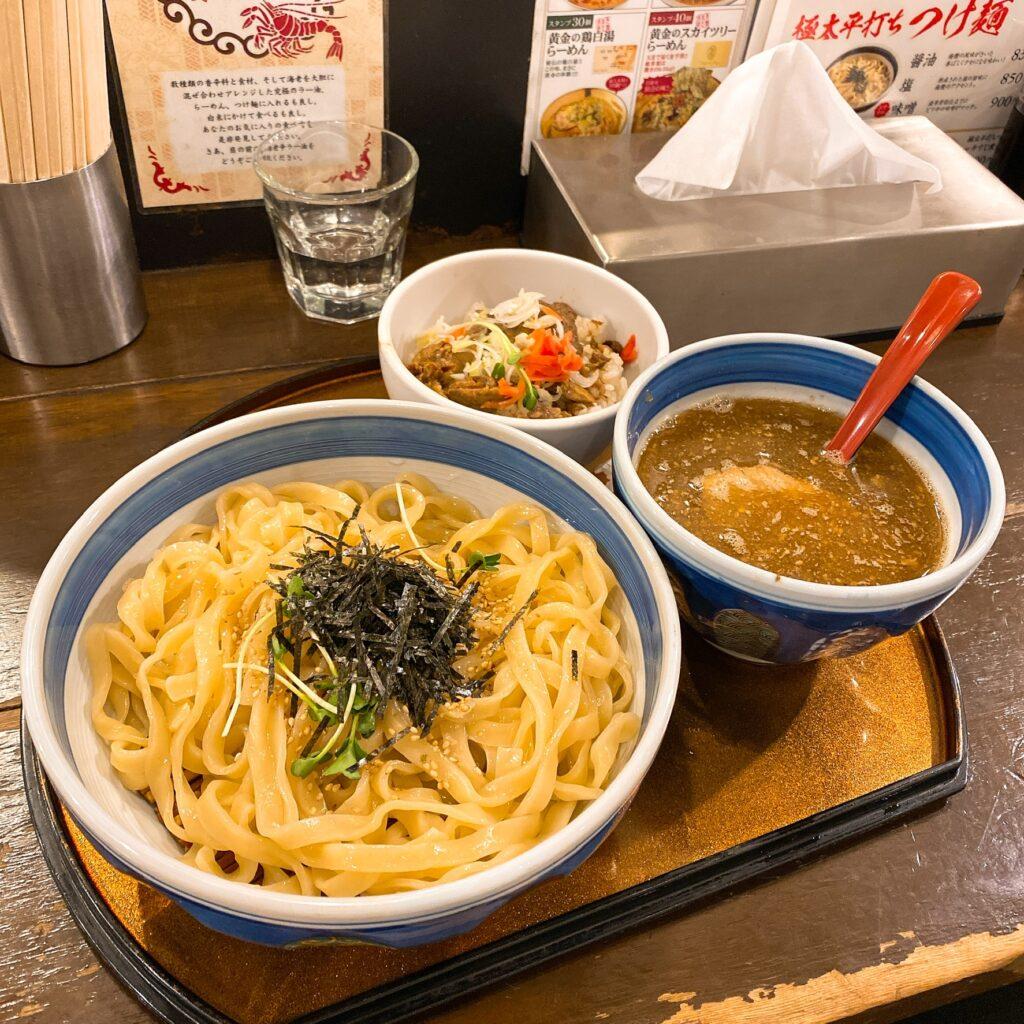 双麺のつけ麺