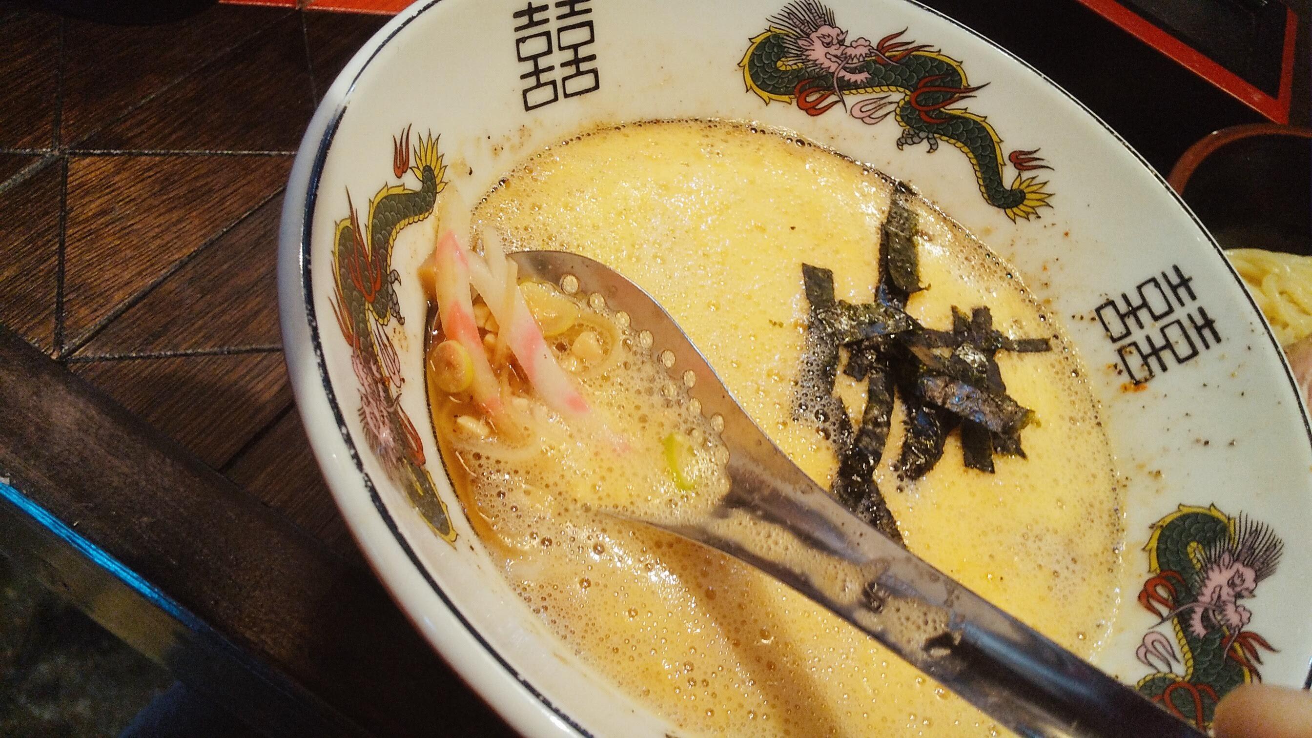 逆流の納豆つけ麺のスープ写真