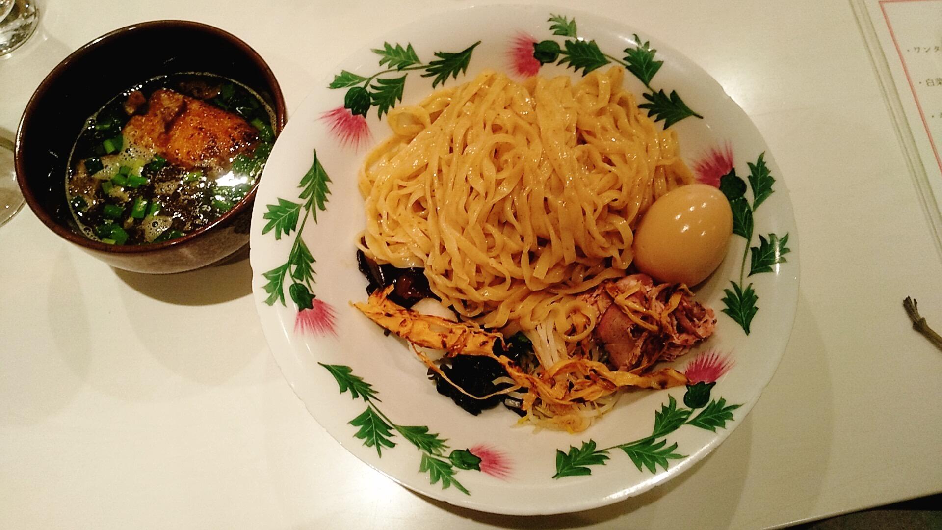 ふるめんのつけ麺の麺皿の写真