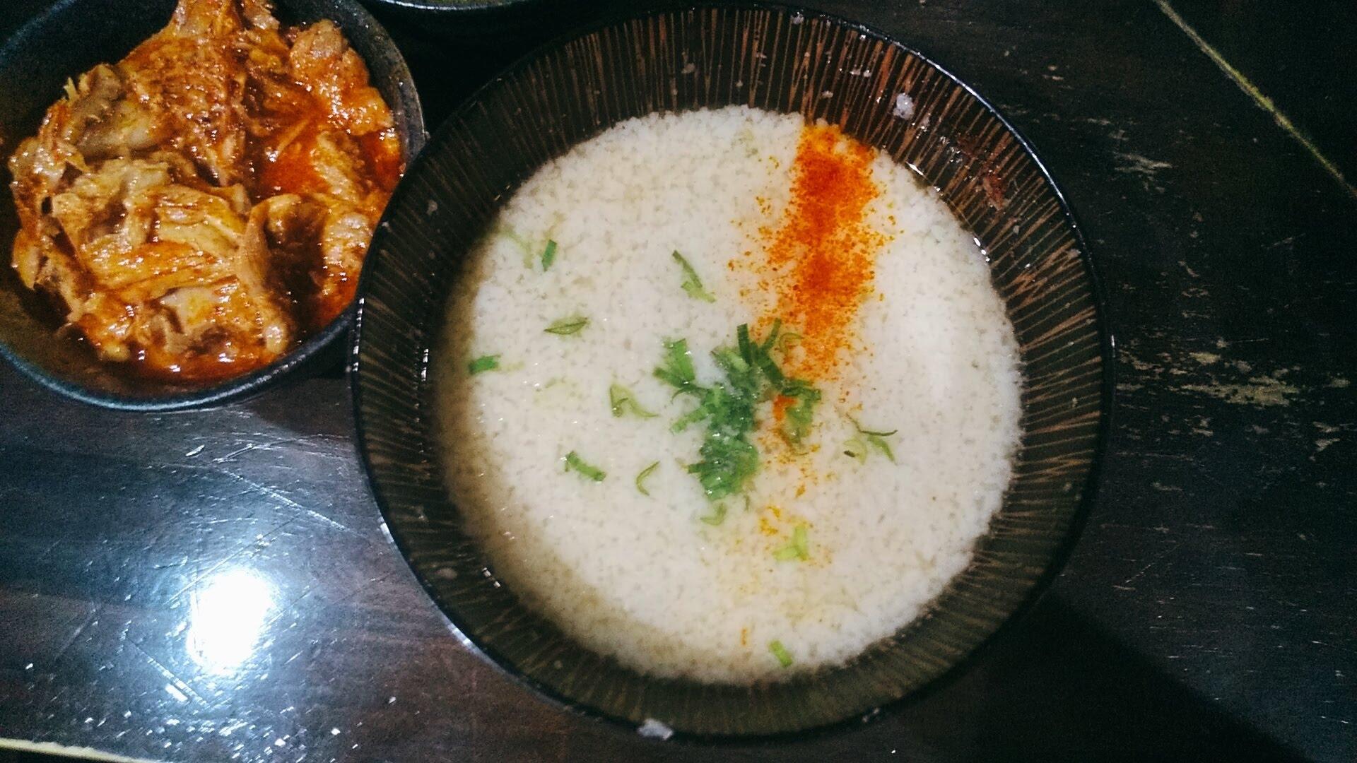一力のつけ麺のつけ汁の写真