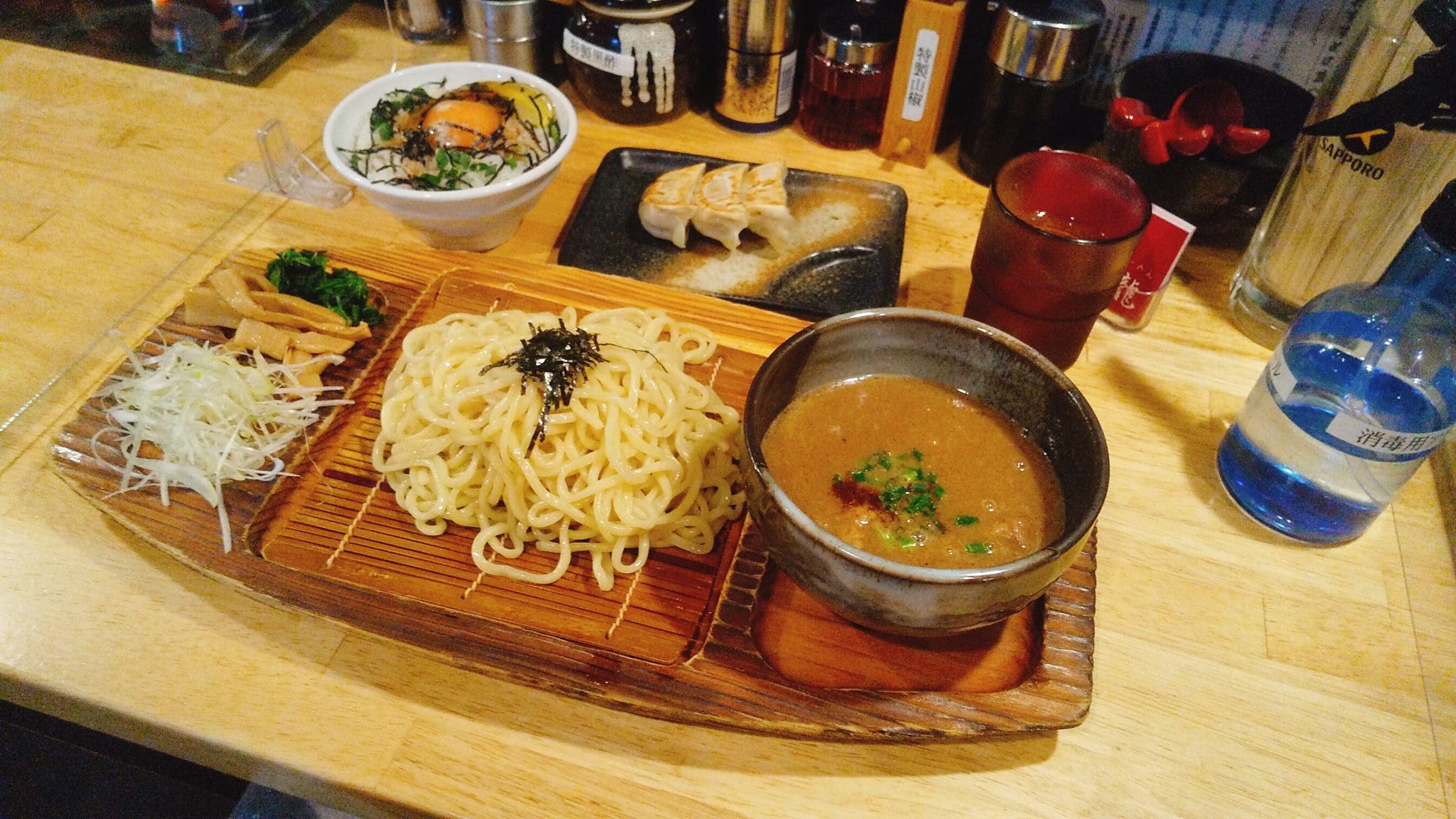 城南らーめん紫龍のつけ麺の写真