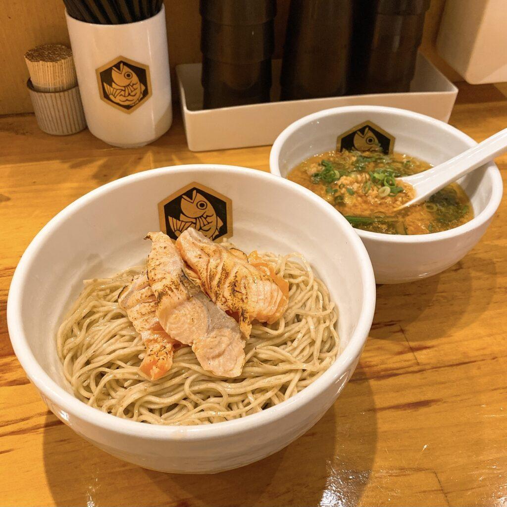 麺魚のサーモンつけ麺