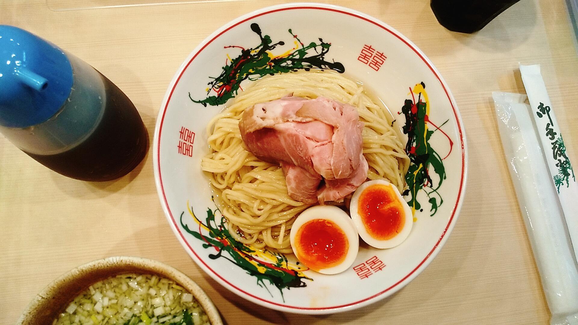 金龍の全部入りつけ麺の麺皿の写真