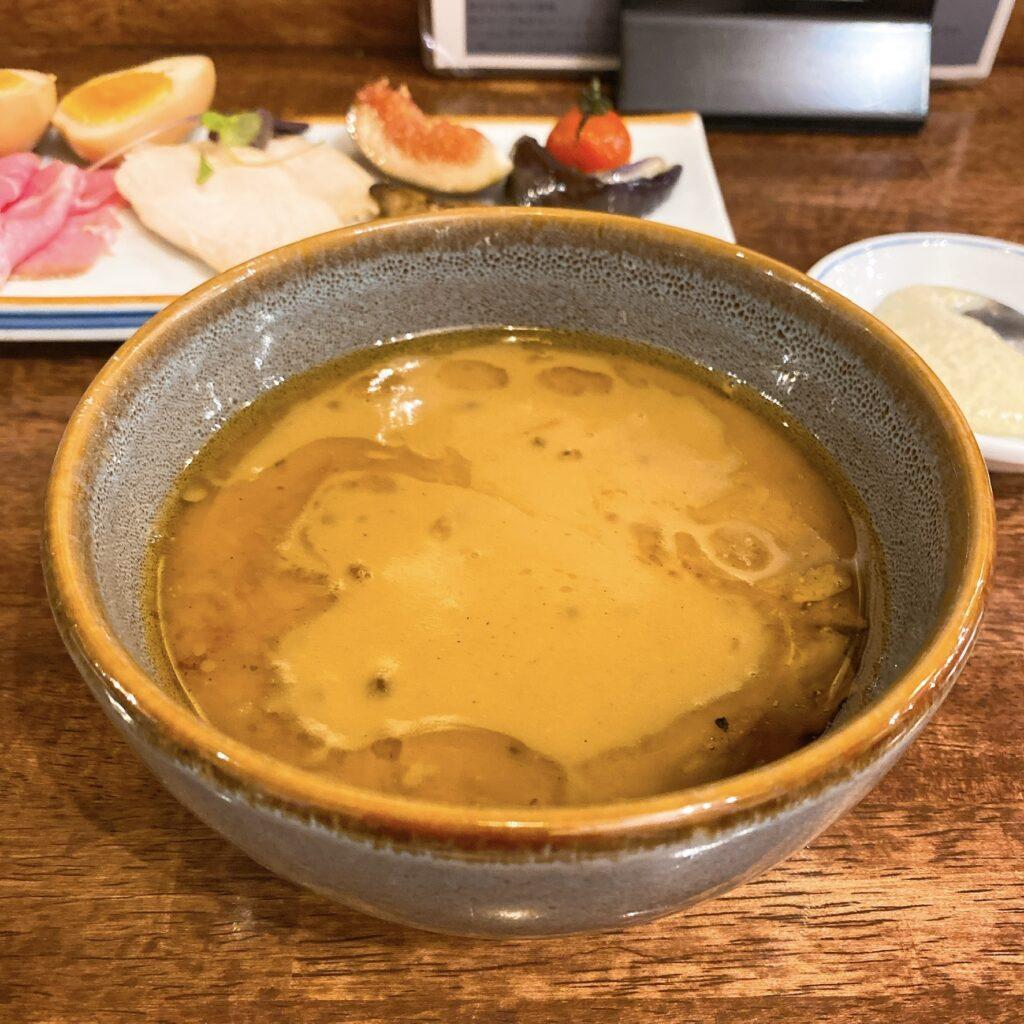 海老丸らーめんのスープ