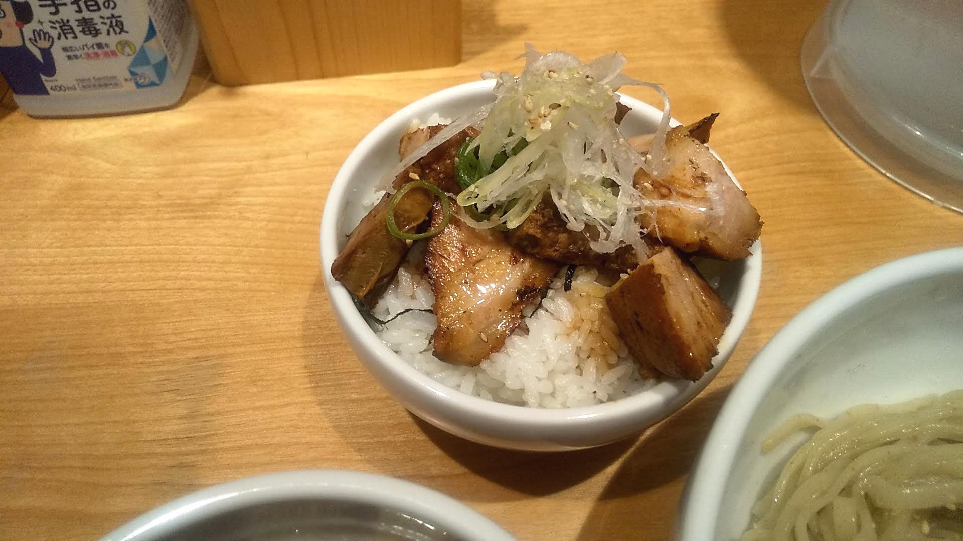 佐々木製麺所のチャーシューご飯の写真