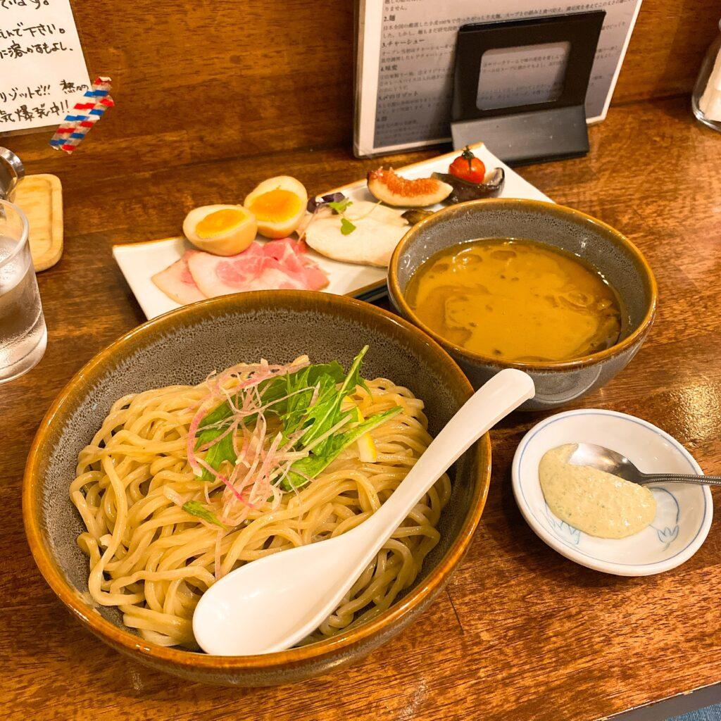 海老丸らーめんの限定つけ麺