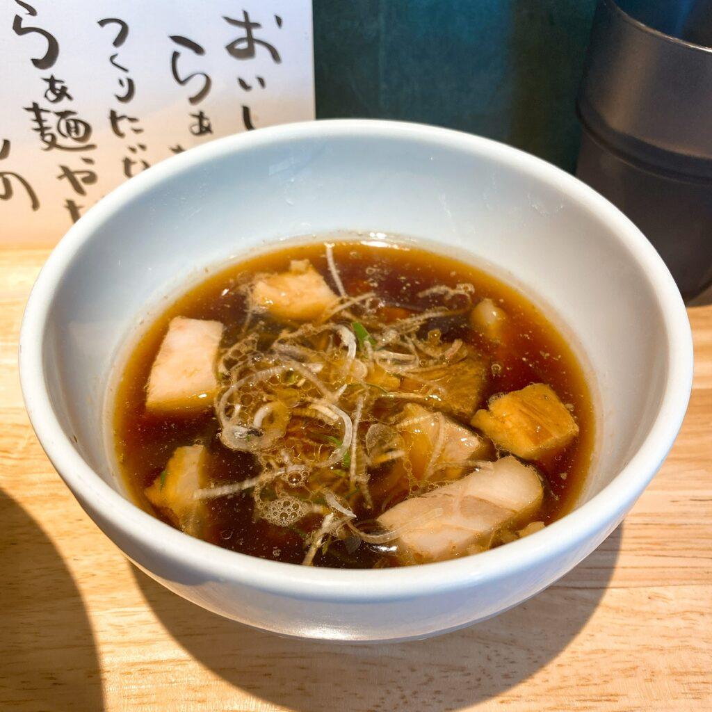 中華蕎麦 さい簾のスープ