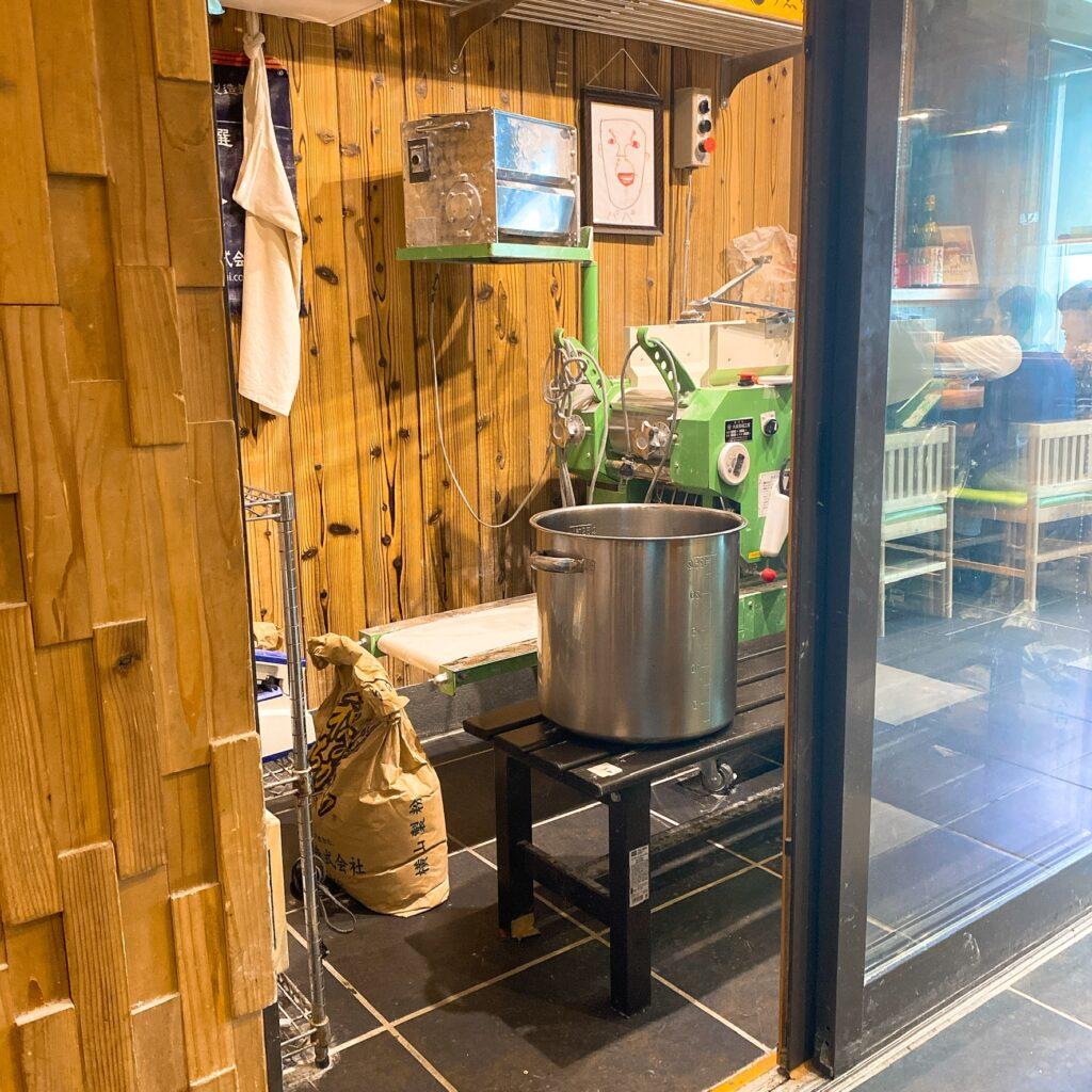 中華蕎麦 うゑずの製麺機
