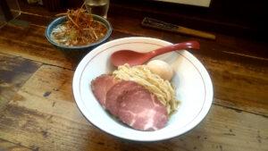 東京味噌らーめん鶉の特製味噌つけ麺の写真