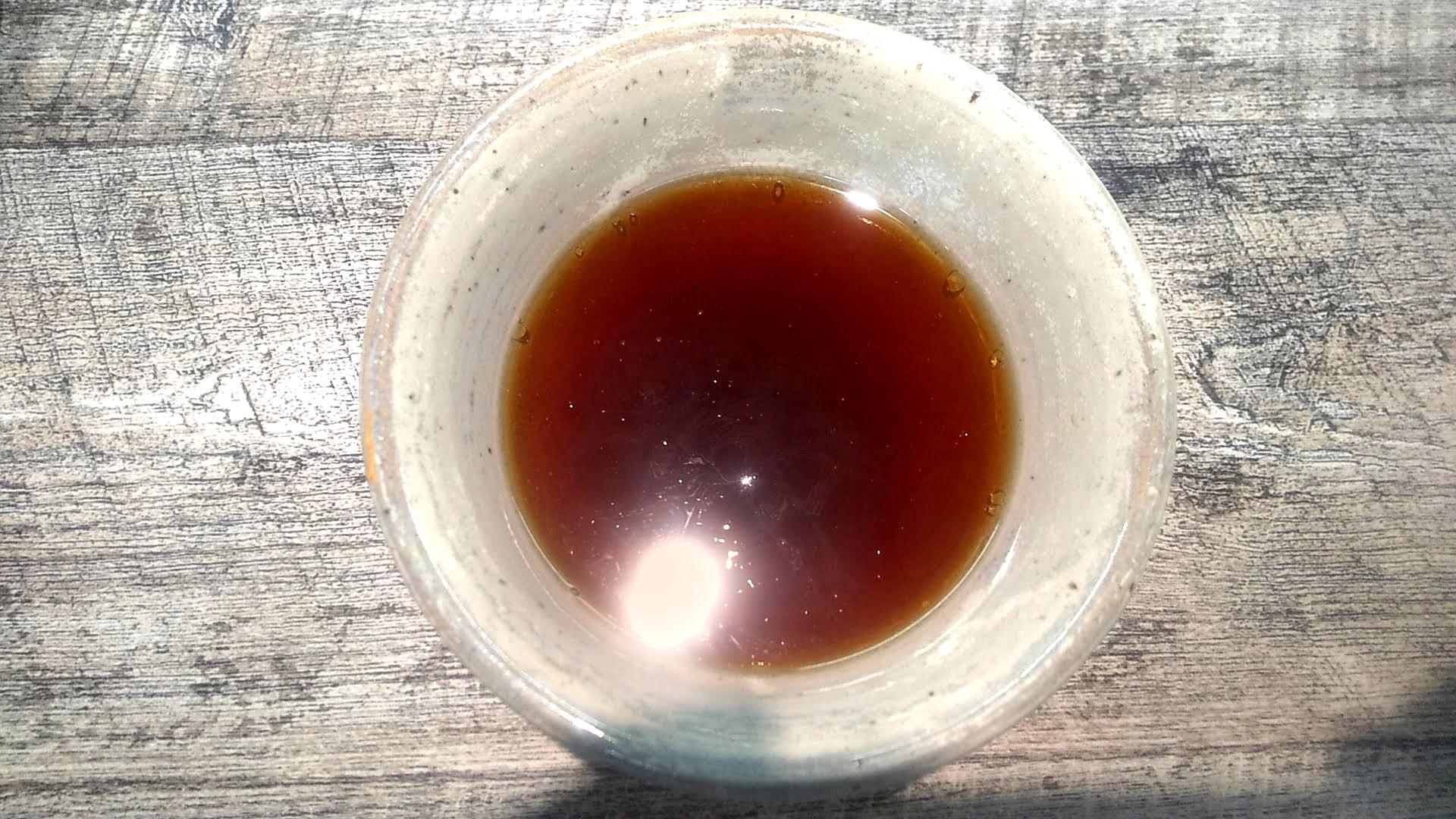 麺食堂くにをのつけ麺のつけ汁の写真