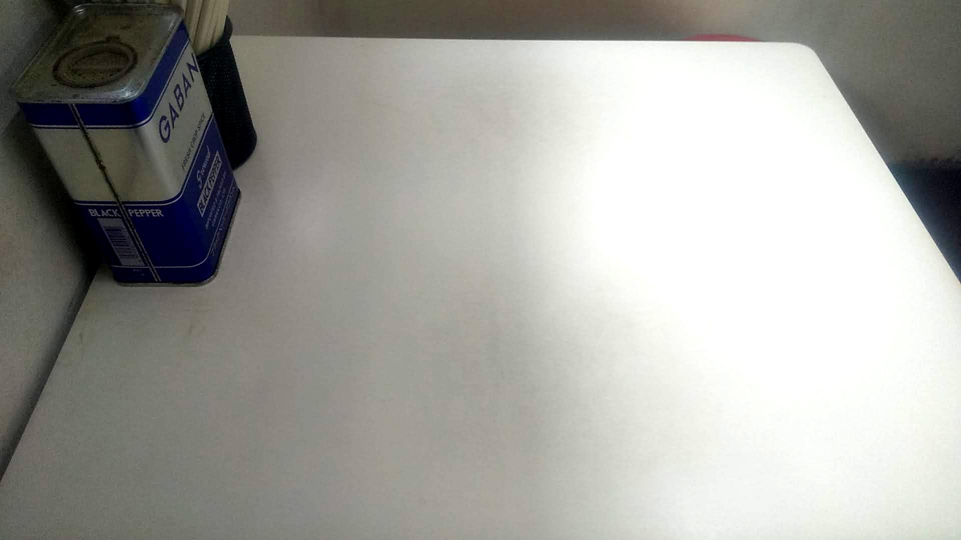 ラーメンショップの卓上写真